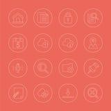 Web line icon set Royalty Free Stock Image