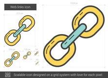 Web links line icon. Stock Image