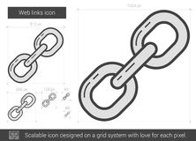 Web links line icon. Stock Images