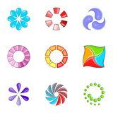 Web loader icons set, cartoon style Stock Images