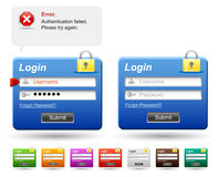 Web login form. Stock Image