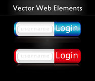 Web login icon, eps10 Royalty Free Stock Photos