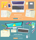 Web and Logo Design stock illustration