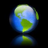 Web lustré de bouton américain Images libres de droits