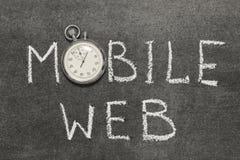 Web móvil Foto de archivo libre de regalías