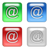 Web mail buttons. Square web mail buttons stock illustration