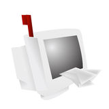Web mail delivery vector Royalty Free Stock Photo