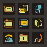 Web and Mail Icon Series Stock Images