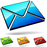 Web mail icons Stock Image