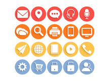 Web mail and networking icons. Stock Photos