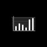 Web marketing analytics solid icon Stock Image