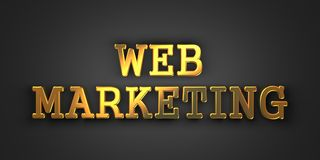 Web Marketing. Business Concept. Stock Photo