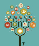 Web marketing business tree plan Stock Images