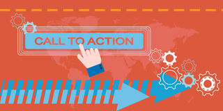Web Marketing, Call to action Stock Photography