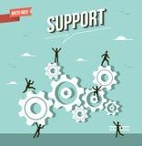 Web Marketing cog wheels illustration Stock Photo