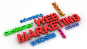 Web Marketing Concept. In 3D Royalty Free Stock Image
