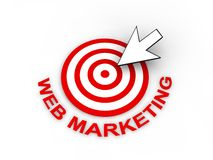 Web Marketing Concept. In 3D Stock Image