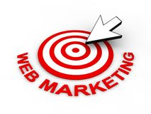 Web Marketing Concept. In 3D Royalty Free Stock Photography