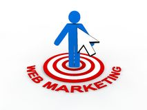 Web Marketing Concept. In 3D Stock Photo