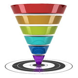 Web Marketing Conversion funnel Royalty Free Stock Photos