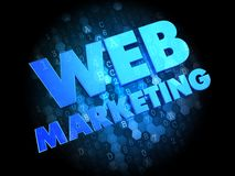 Web Marketing on Dark Digital Background. Stock Photography