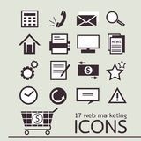 17 web marketing icon Royalty Free Stock Image