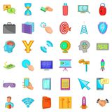 Web marketing icons set, cartoon style Stock Photography