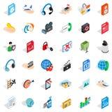 Web marketing icons set, isometric style. Web marketing icons set. Isometric style of 36 web marketing vector icons for web isolated on white background Royalty Free Stock Photos