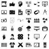 Web marketing icons set, simple style Stock Images
