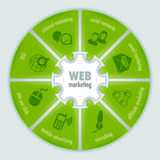 Web marketing infographic. Infographic about Web marketing. Puzzle style Stock Photo