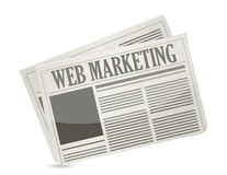 Web marketing newspaper illustration design Stock Images