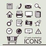 17 Web marketing pictogram vector illustratie