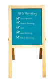 WEB Marketing plan. On a chalkboard Royalty Free Stock Photo