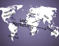 Web Marketing Represents Selling Advertising And Network Royalty Free Stock Image