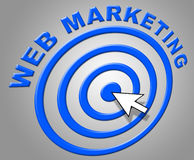 Web Marketing Shows Internet Network And Websites Royalty Free Stock Images
