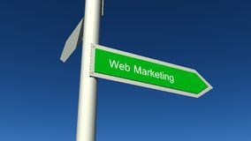 Web marketing sign. Web marketing arrow blue sky Royalty Free Stock Photos