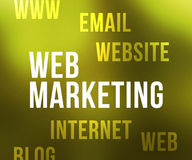 Web Marketing Tag Cloud Stock Images