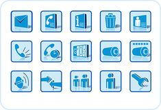 Web and media icon set. A set of common used web button Stock Photography