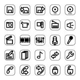 Web and media icon set Royalty Free Stock Image