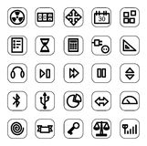 Web and media icon set. A set of common used web button Royalty Free Stock Photography