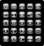 Web and media icon set. A set of common used web button (part 4 Royalty Free Stock Photo