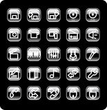 Web and media icon set Royalty Free Stock Photos