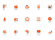 Web and media icons Stock Photos