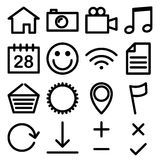 Web and media icons Royalty Free Stock Photos