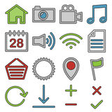 Web and media icons Royalty Free Stock Photography