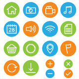 Web and media icons Royalty Free Stock Image