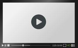 Web  media player Stock Images