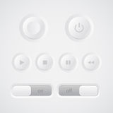 Web media player buttons Royalty Free Stock Photos