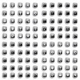 Web and Media Vector Icon Set Royalty Free Stock Images