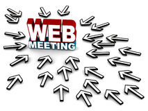 Web meeting Stock Images